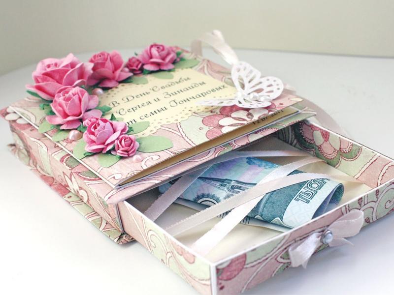 Подарок своими руками из денег на свадьбу своими руками